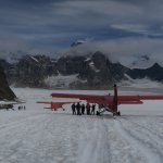 Our landing site on the Ruth Glacier