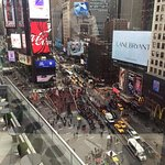 View of TImes Square from the conference room level.