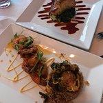 Sea Bass and Shrimp Dinner