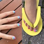 Awesome mani pedi on my ten year old from Salka spa!