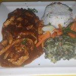 Chicken in ginger sauce - sweet & spicy