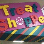 The Treat Shoppe sign - filled with - treats!