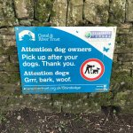 dog walkers note a sign for your pet