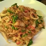 King prawn and squid fired rice