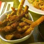 Wasabi sweet potato chips