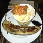 Grilled banana, Moomaid 'shipwreck' icecream, home-made caramel sauce and honeycombe *****