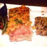 Grilled Mahi Mahi with wild rice and seasonal vegetables