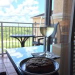 Wine and Cookie at the Club Lounge