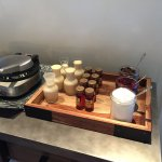 Belgian waffle bar at the Club Lounge