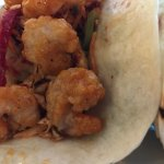 The photos may not do most justice, but the Korean shrimp tacos are awesome.  About 12-15 shrimp