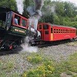 Steam engine starts its journey up Mt. Washignton