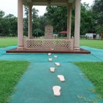 the point where Ghandi was murdered