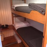Room with bunk beds.