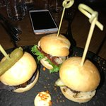 puffin, whale and langoustine sliders