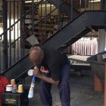 Improvised musician playing music with papers. - Pike Market - Seattle, WA
