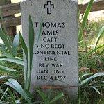Cemetery marker.