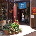 Check out some of the local shops and artisans located inside the courtyard at La Cocina!