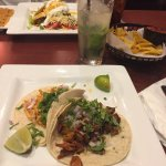 Tacos, and a passion fruit mojito!