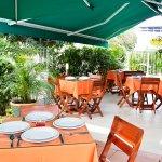 terraza del hotel Imbanaco Cali
