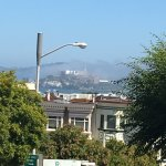 View from a few street aways of Alcatraz. Very nice walking area.