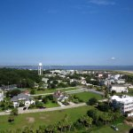 View of Tybee from the top of the lighthouse