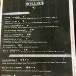 Willie's Place (Dothan, AL) Menu Page 2 of 4