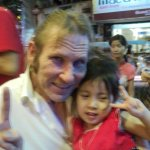 me with a sweet street sellers very lovely sweet Daughter in the street of Pham Ngu Lao,2 years