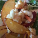 Lobster salad with cheese and peaches - AMAZING!