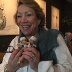 Over Maureen surprised our table with Vincentis dolls.