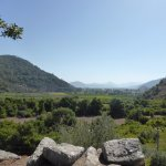 view from Kaunos over Dalyan town.