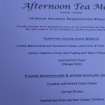 Dalvay by the Sea: Afternoon Tea Menu