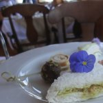 Afternoon Tea: well presented savoury items and tea sandwiches