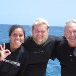 Con Steve y Michele. Exelentes guias.