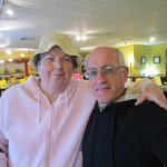 Louis and I at one of the stores at Olde Mistick Village.