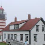 light house with light fog
