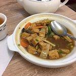 Mixed seafood and tofu