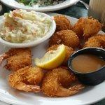Coconut shrimp dinner, good.