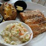 Salmon dinner looks good!