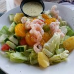 Starter Tropical salad, very large and good!