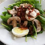 Starter spinach salad, very large and good!
