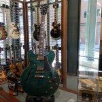Gibson Retail Centre, Memphis. Big Green Guitar, not a normal colour for a Gibson.