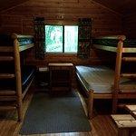 Inside the Camper Cabin.