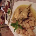 Chicken with baked potatoes