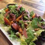 warm peach salad