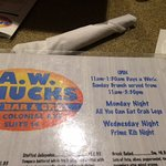 wed. night special and monday