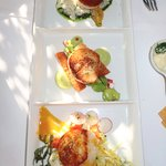 Perfectly cooked trios of sea scallops!!!