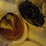 Baked potato and spinach
