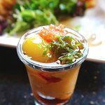Uni Shooter (Sea urchin & quail egg)