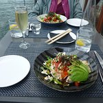 Both of us had the Poke Bowl sushi with salad & avocado