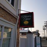 The Flanders Hotel sign
